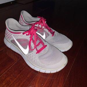 Nike Free Run 3 Gray & Pink Sneakers